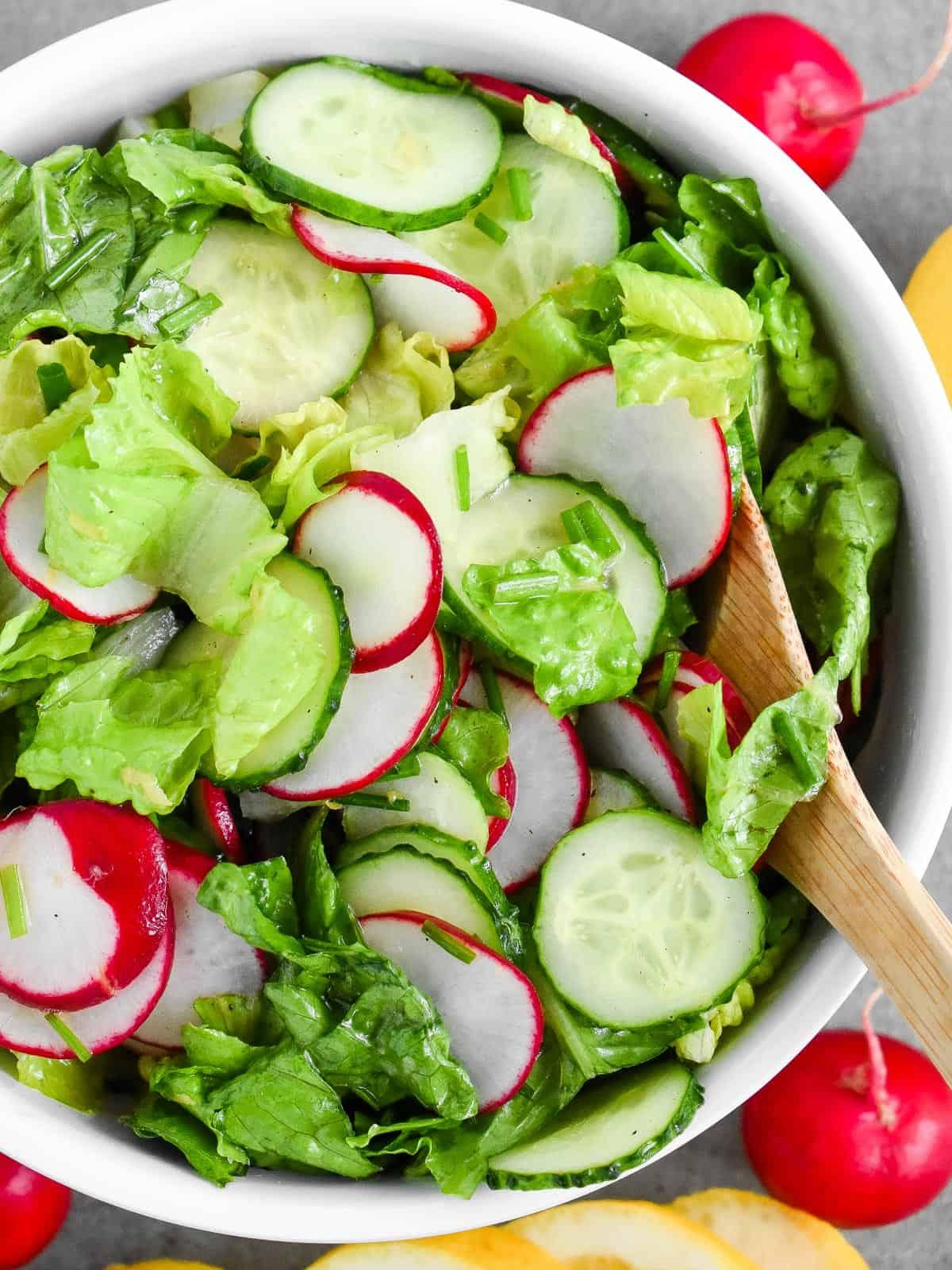 Lettuce Radish Salad with Lemon Vinaigrette - Olga in the ...