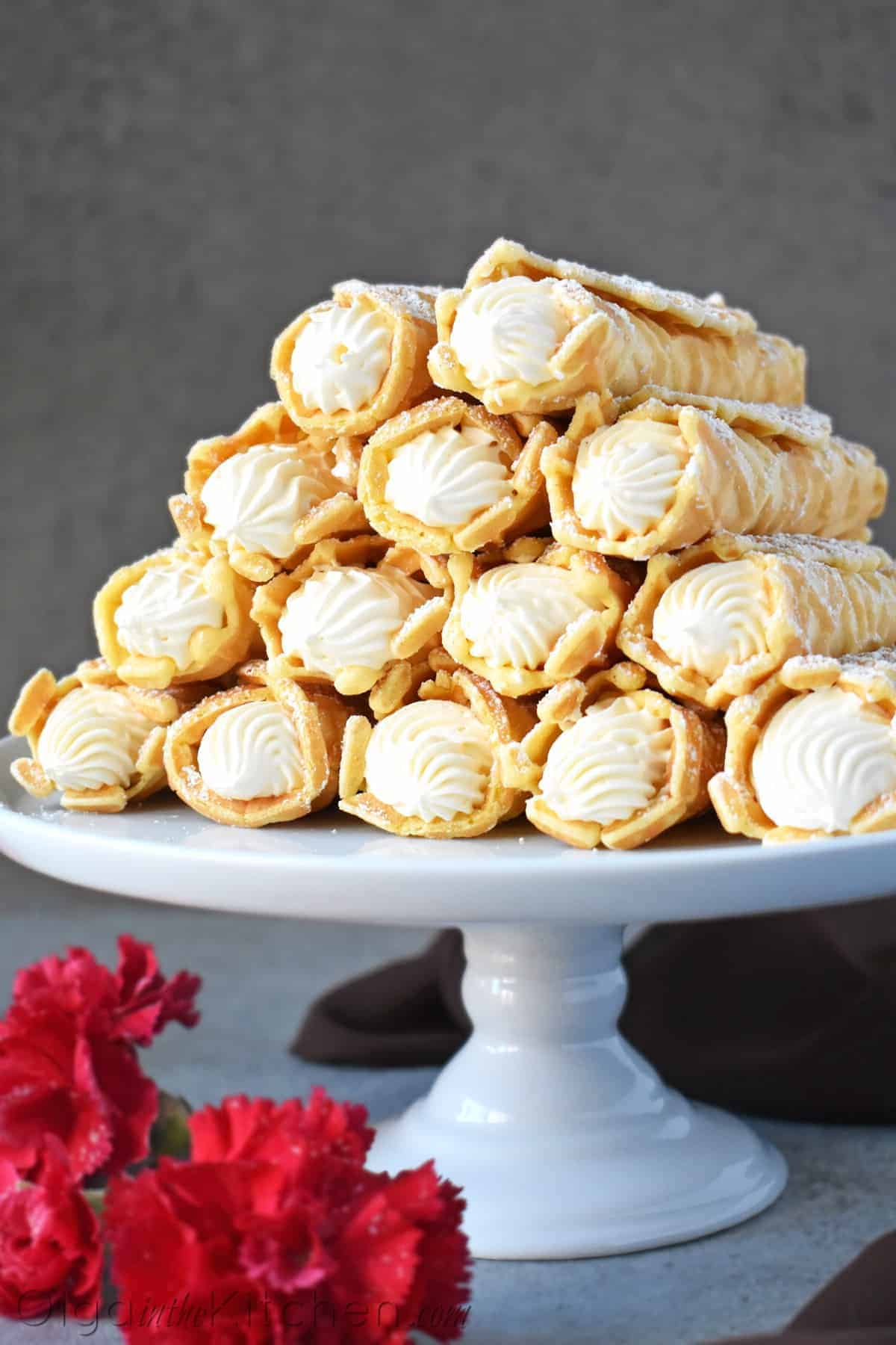 cream filled pizzelles