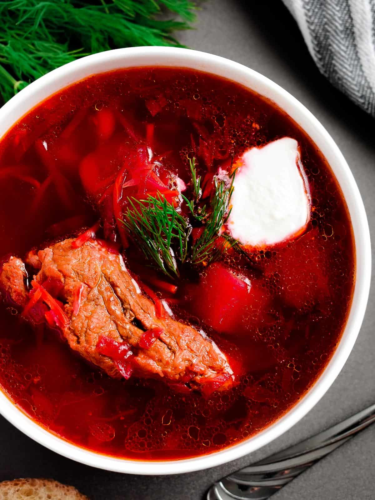 Classic Red Borscht With Ribs Olga In The Kitchen