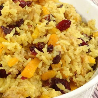Pork Plov (Pork Rice Pilaf with Cranberries): rich in taste, marvelous dish to serve at any event. Our family version of pilaf.   olgainthekitchen.com