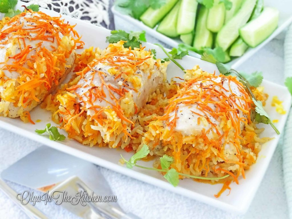 Rice Stuffed Chicken Thighs: tender, marinated chicken thighs filled with rice, carrots and onions. A one-pot meal for any occasion. | olgainthekitchen.com