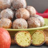 Mashed Potatoes Doughnut Holes: tender and slightly sweet on the inside and crispy on the outside with the delicious icing coating. | olgainthekitchen.com