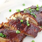 Sweet BBQ Pork Ribs in Slow Cooker: sweet, fall-apart pork ribs, crispy on top, great for any occasion. | olgainthekitchen.com