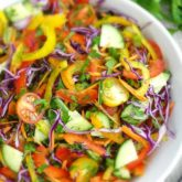 All-Veggie Salad: healthy, colorful, full of flavor and vitamins. All your favorite vegetables in one bowl. | olgainthekitchen.com
