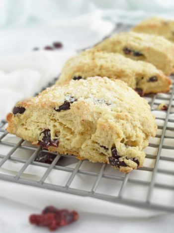 Cranberry Scones: deliciously soft on the inside, crispy on the outside, buttery, flaky and so perfect in every way. | olgainthekitchen.com