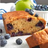 Apple Blueberry Honey Bread: incredibly moist loaf of bread loaded with sweetness, flavor and fresh fruits.   olgainthekitchen.com