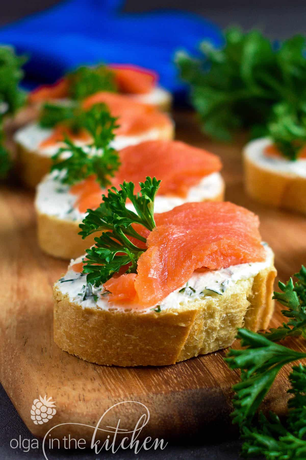 These easy Smoked Salmon Cream Cheese Tea Sandwiches are quick, elegant and an easy addition to a light lunch or an afternoon tea. | olgainthekitchen.com