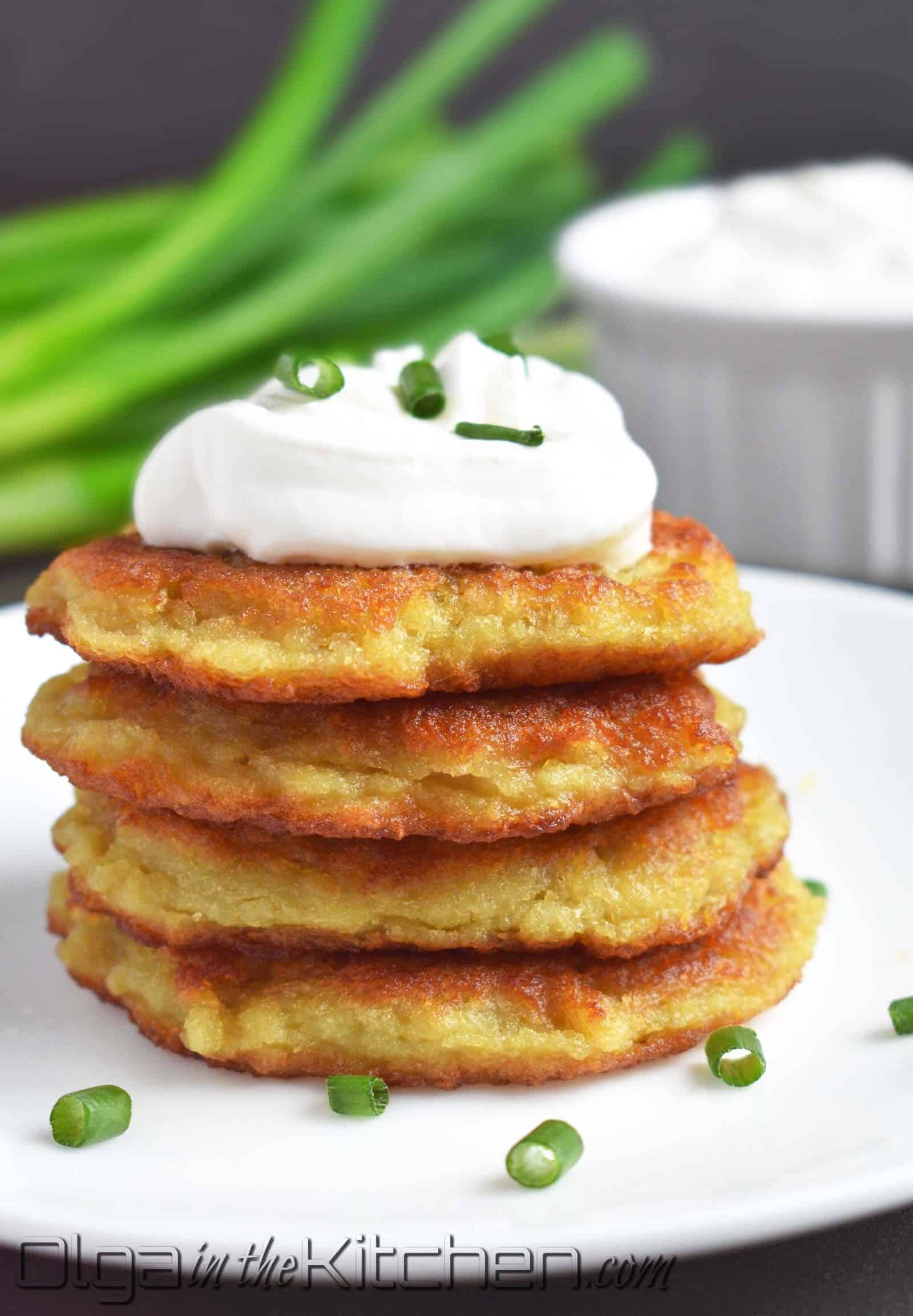 how to serve potato pancakes