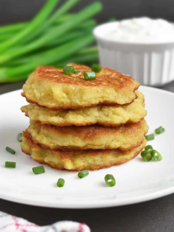 These are classic Ukrainian Potato Pancakes also called Deruny. Serve for breakfast, as an appetizer or side dish. | olgainthekitchen.com