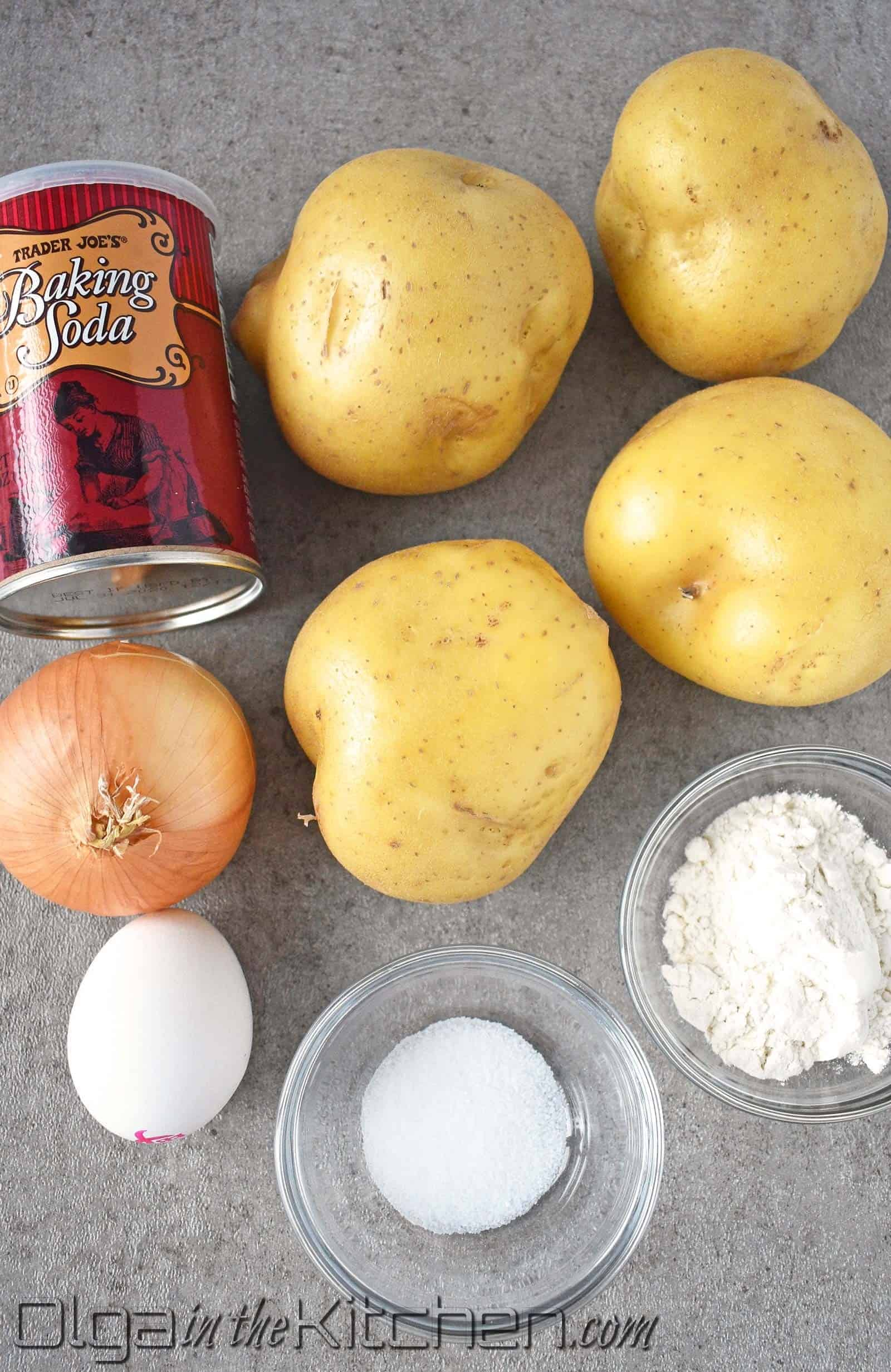 ingredients for potato pancakes