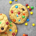 BEST M&M Cookies: chewy and soft on the inside, crispy edges and loaded with m&ms. These taste like true homemade cookies! olgainthekitchen.com