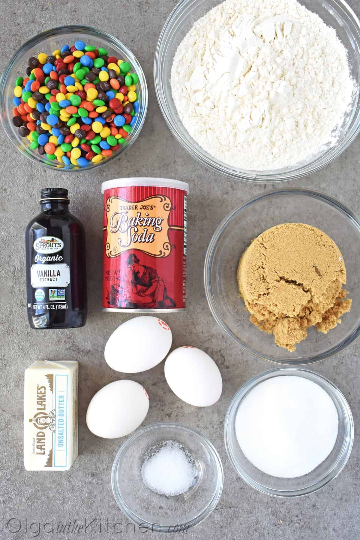 MM cookies ingredients