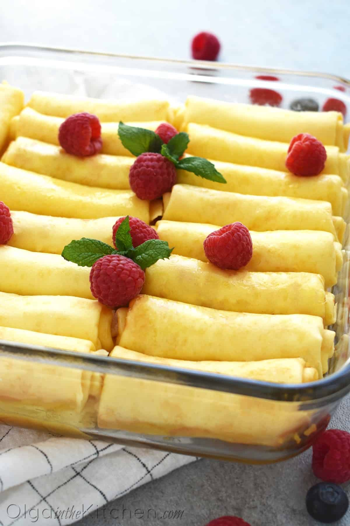 Crepes with Cheese Filling