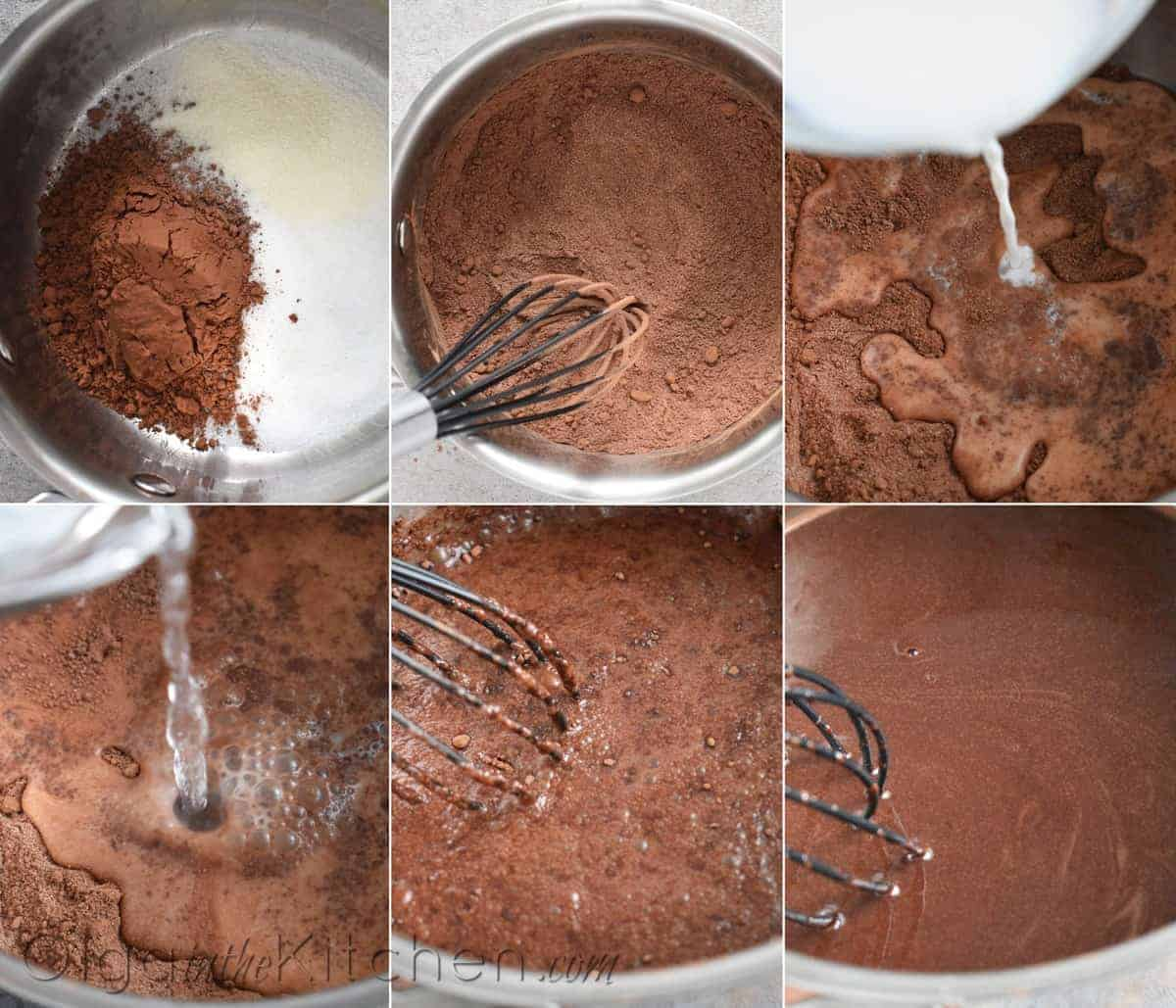 How to make chocolate jello