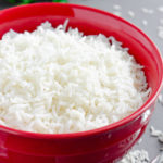 Learn how to cook rice perfectly every time. This is our go-to simple, but reliable stove-top method of How to Cook White Rice to achieve perfectly tender and fluffy texture every time. #howtocookrice #whiterice #longgrainrice #basmatirice #jasminerice #olgainthekitchen #rice #sidedish #howto