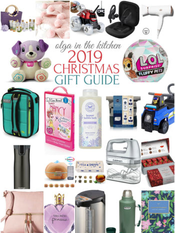 2019 Holiday Gift Guide with the best Christmas gift ideas. Gifts for women, gifts for men, gifts for kids all ages and so much more. | olgainthekitchen.com