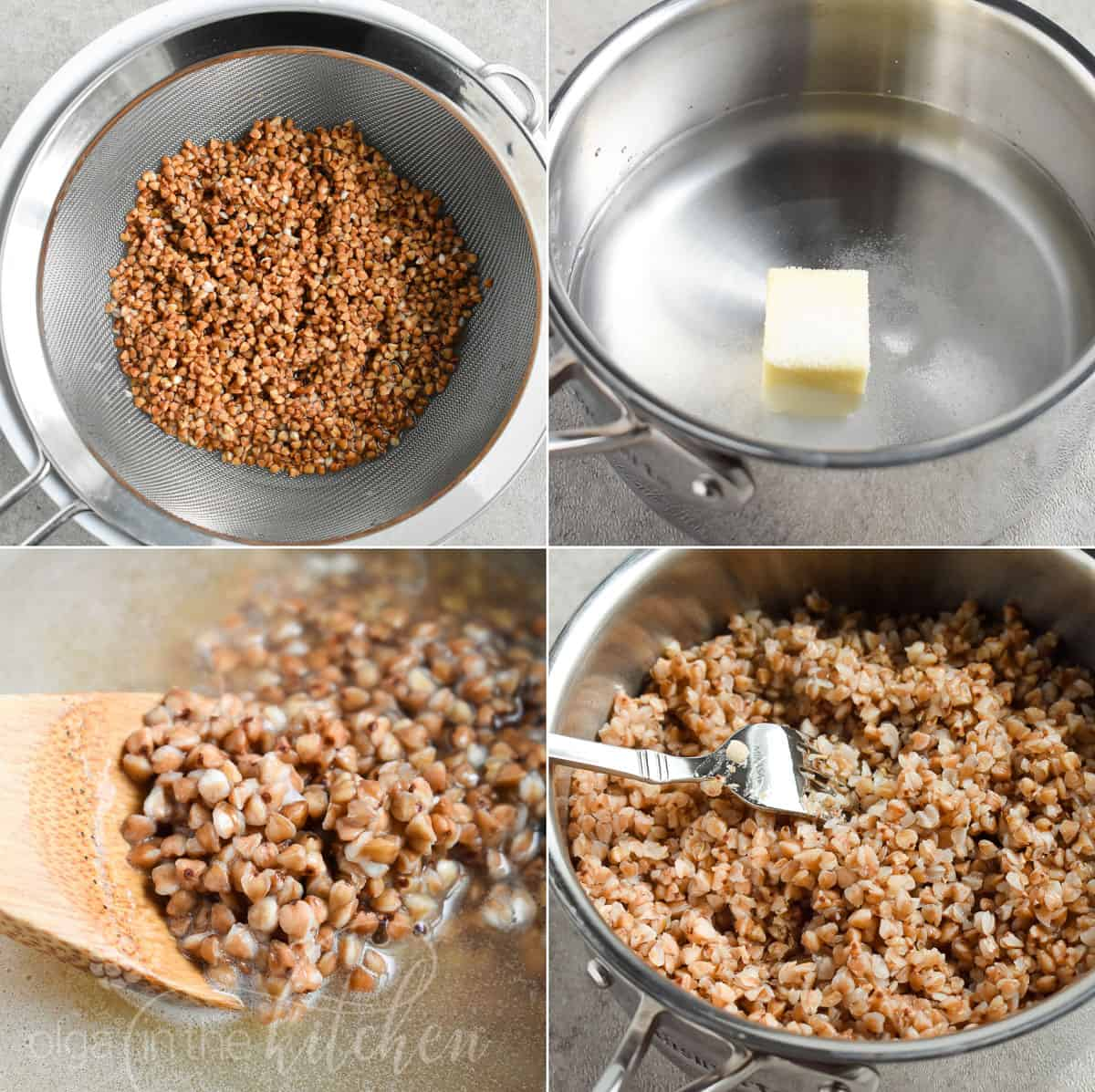 Buckwheat is a healthy, gluten-free seed with a nutty, toasty flavor and soft texture. It's so easy to prepare and inexpensive. Learn How to Cook Buckwheat kasha perfectly every time! #buckwheat #olgainthekitchen #howto #sidedish #healthy #lowcarb