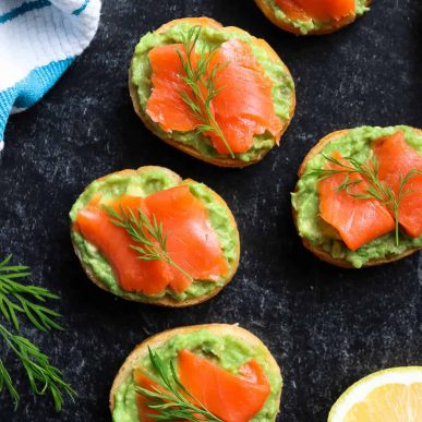 These Salmon Avocado Sandwiches are super easy, healthy and the perfect appetizer to serve at your next party or enjoy as a delicious breakfast alternative.