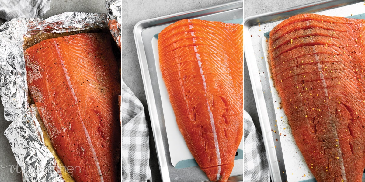 Learn to cure and smoke hot smokes salmon at home. #smokedsalmon #salmon #olgainthekitchen #holiday #summer #homemade