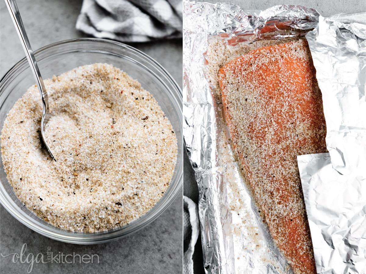 Hot smoked salmon recipe cure ingredients. #smokedsalmon #salmon #olgainthekitchen #holiday #summer #homemade