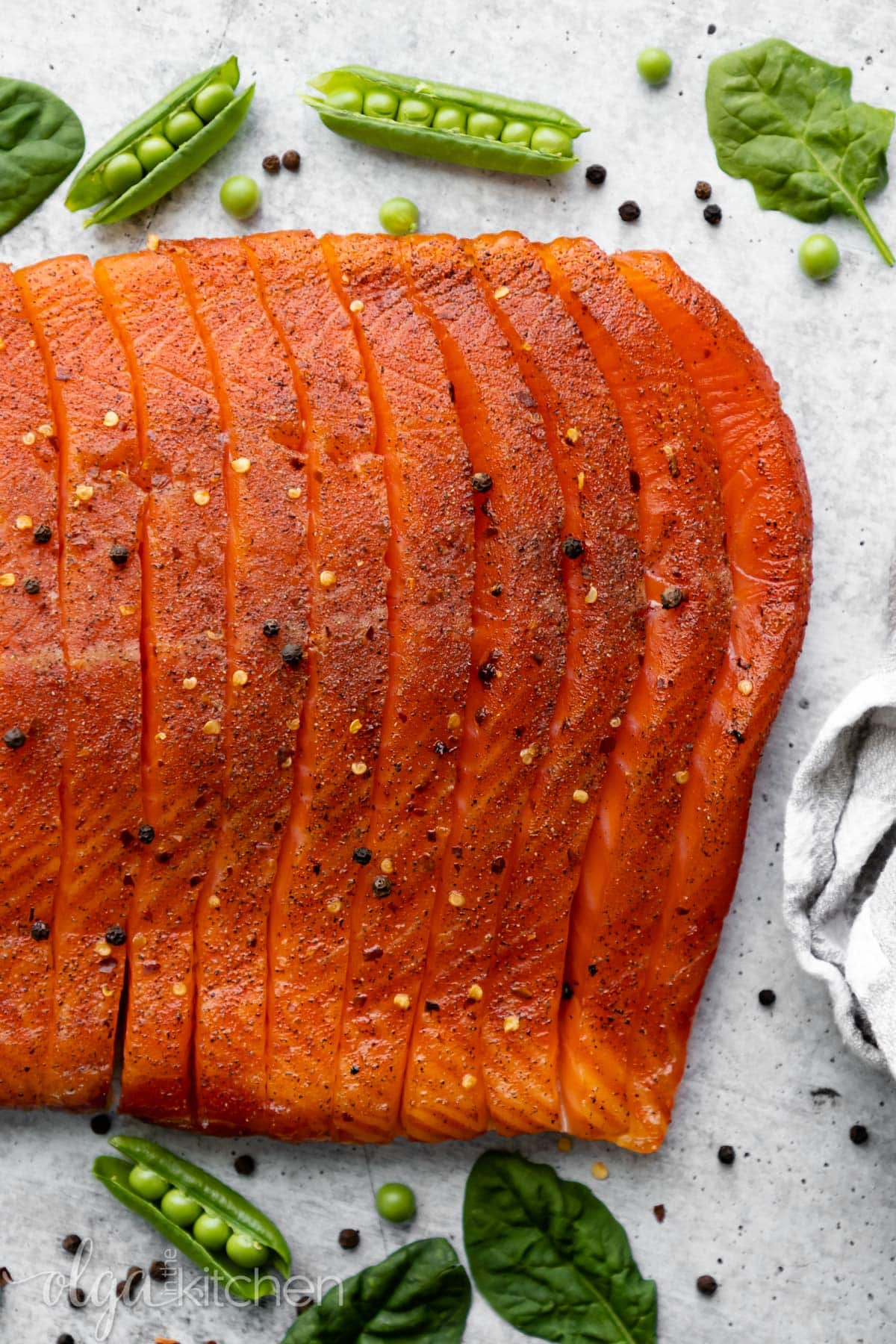 Learn to smoked salmon at home. #smokedsalmon #salmon #olgainthekitchen #holiday #summer #homemade #appetizer
