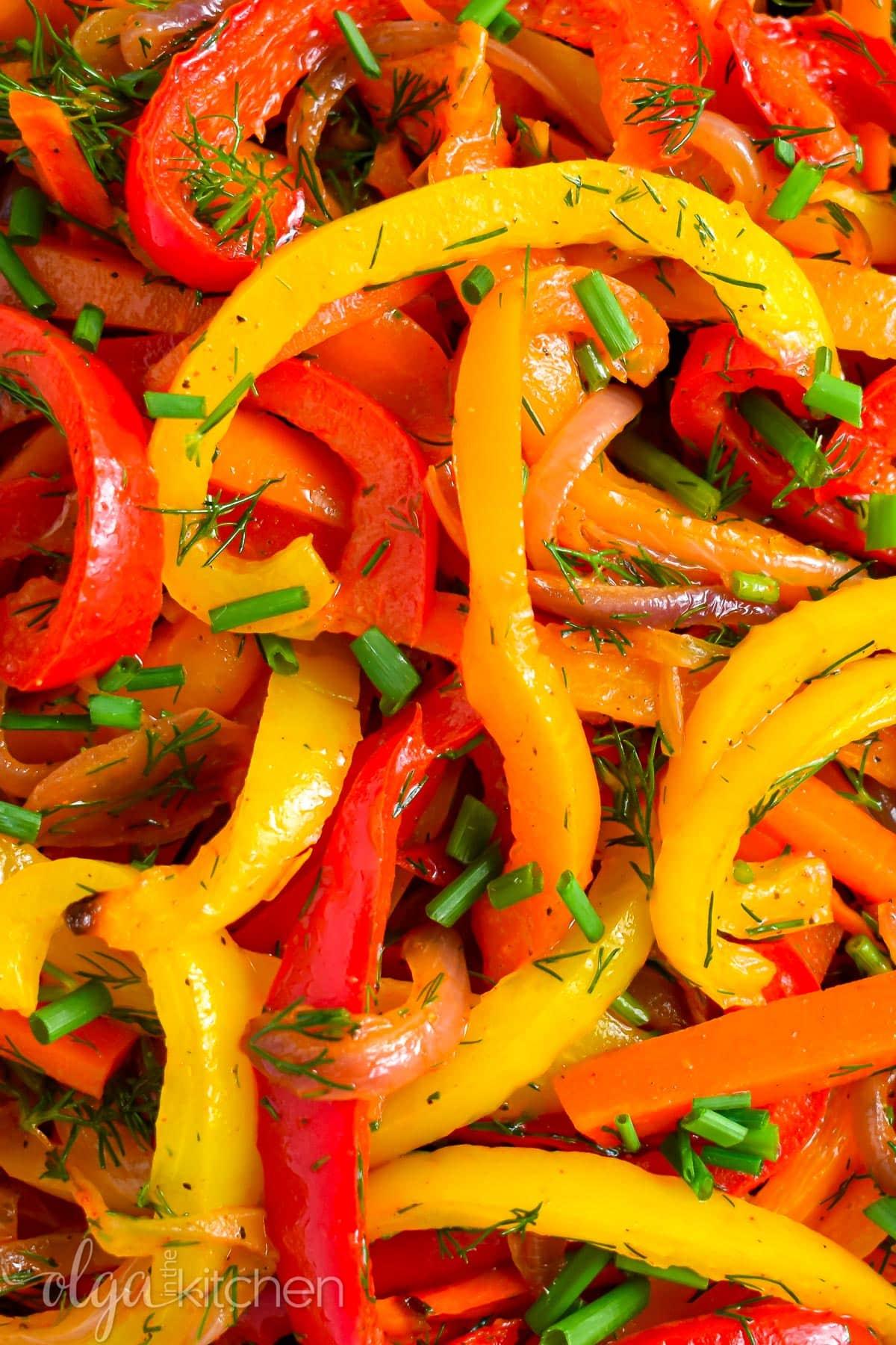 Bell pepper salad.