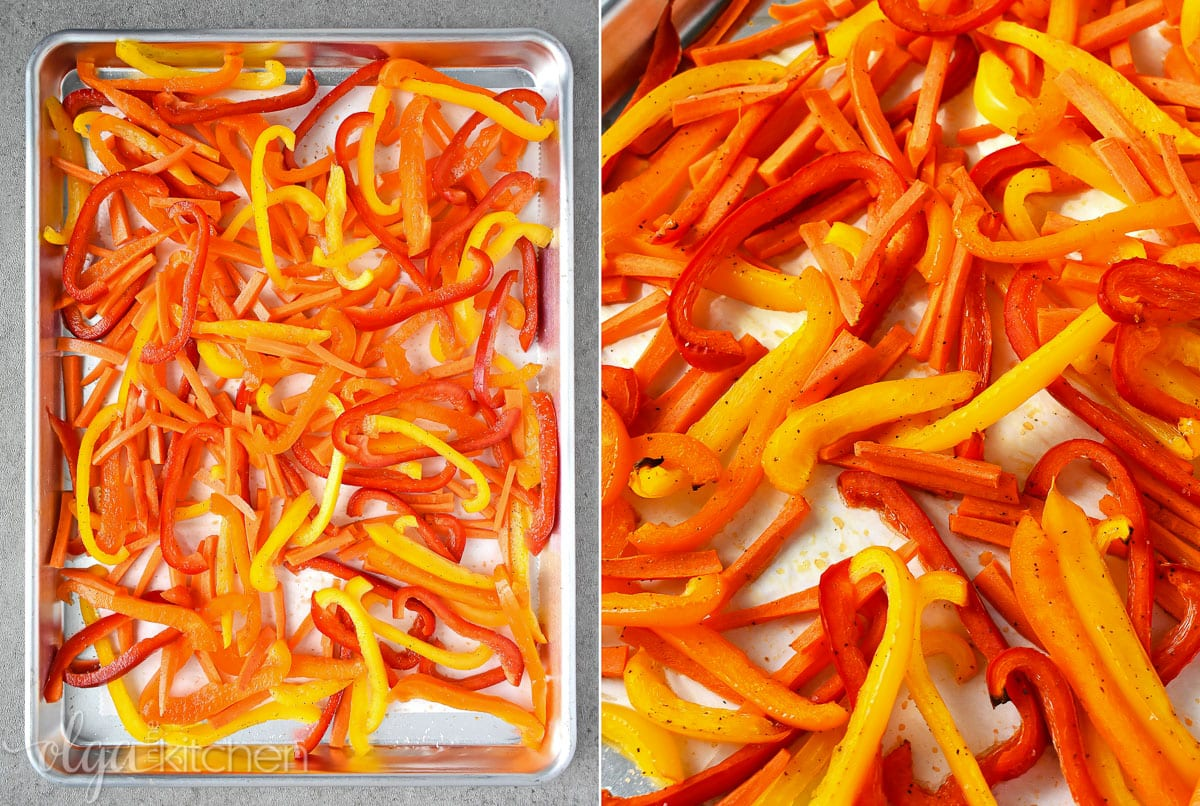 How to cut bell pepper for salad.
