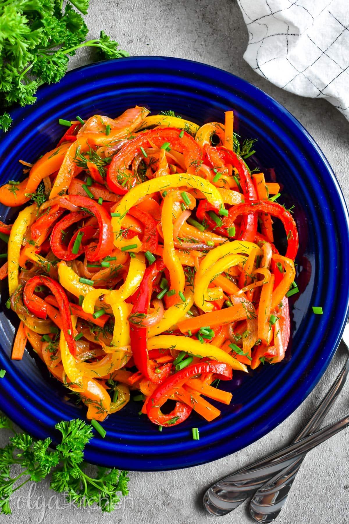 Easy Roasted Pepper Salad Recipe